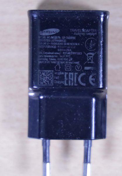 Samsung Travel Adapter EP-TA20EBE dengan kemampuan fast charging 9 volt 1,67 ampere